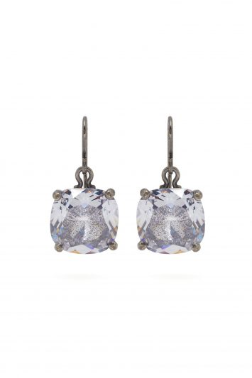 Click to Buy Bottega Veneta Cubic-zirconia drop sterling-silver earrings