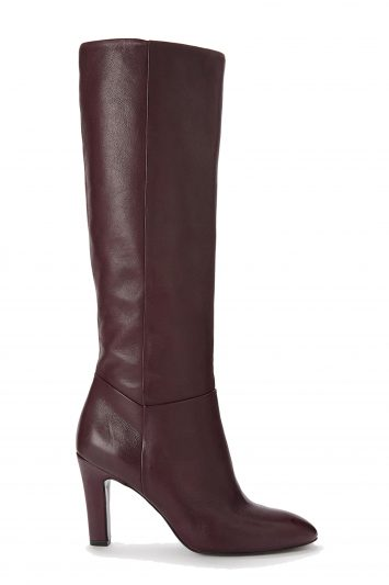 Click to Buy John Lewis & Partners Sienna Knee High Slouch Boots, Burgundy Leather