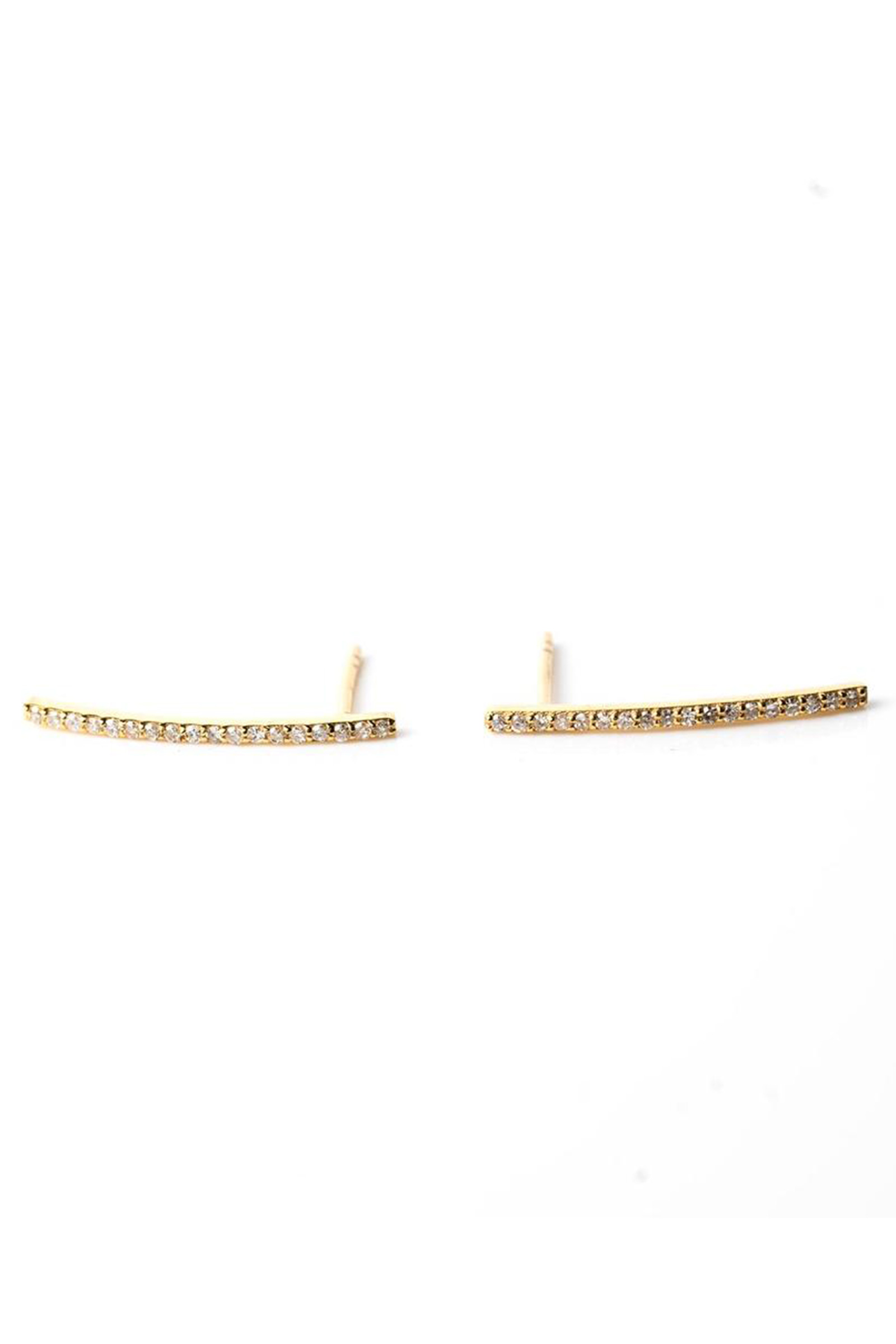 Click to Buy Kirstie-Le-Marque-Gold-Bar-Studs
