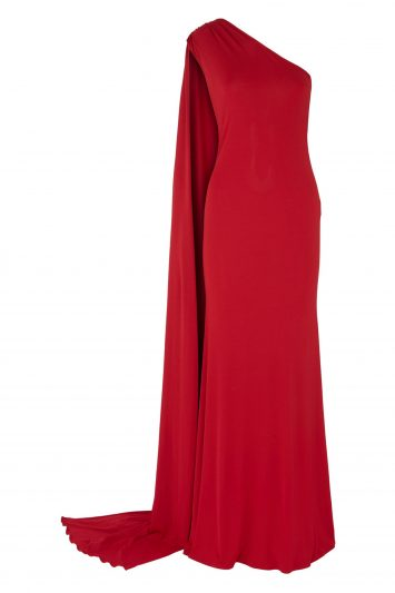 Click to Buy One-shoulder stretch-jersey gown