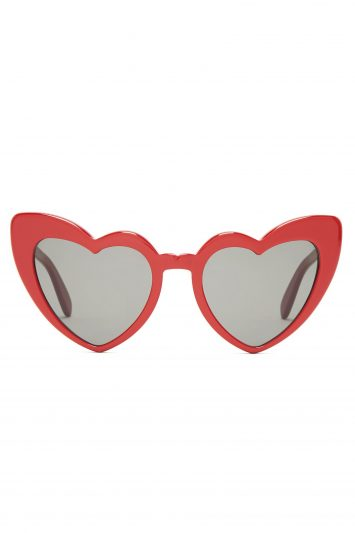 Click to Buy Saint Laurent Loulou heart-shaped acetate sunglasses