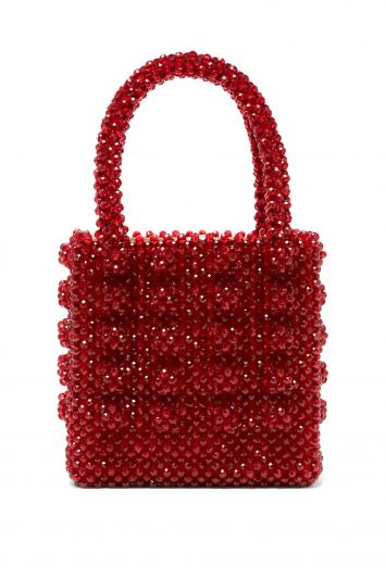 Click to Buy Shrimps Antonia ruby-crystal embellished bag