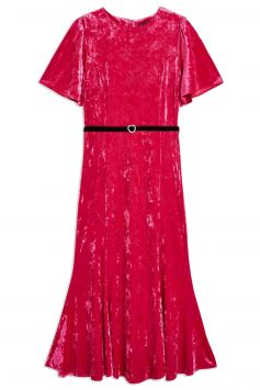 Click to Buy Topshop Velvet Midi Dress