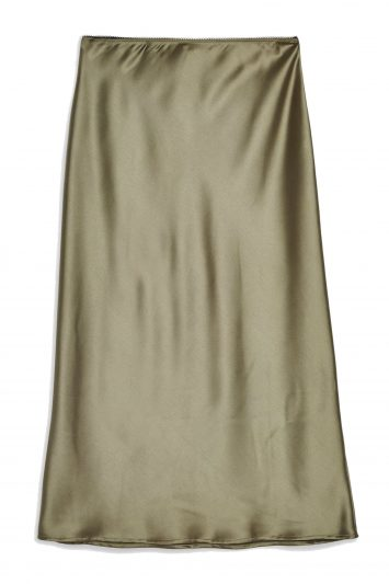 Click to Buy Satin Bias Midi Skirt