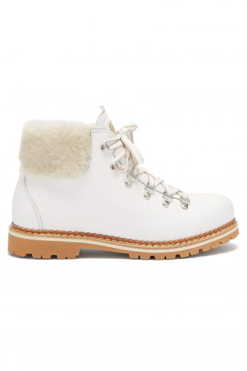 Click to Buy Montelliana Margherita shearling-trimmed leather boots