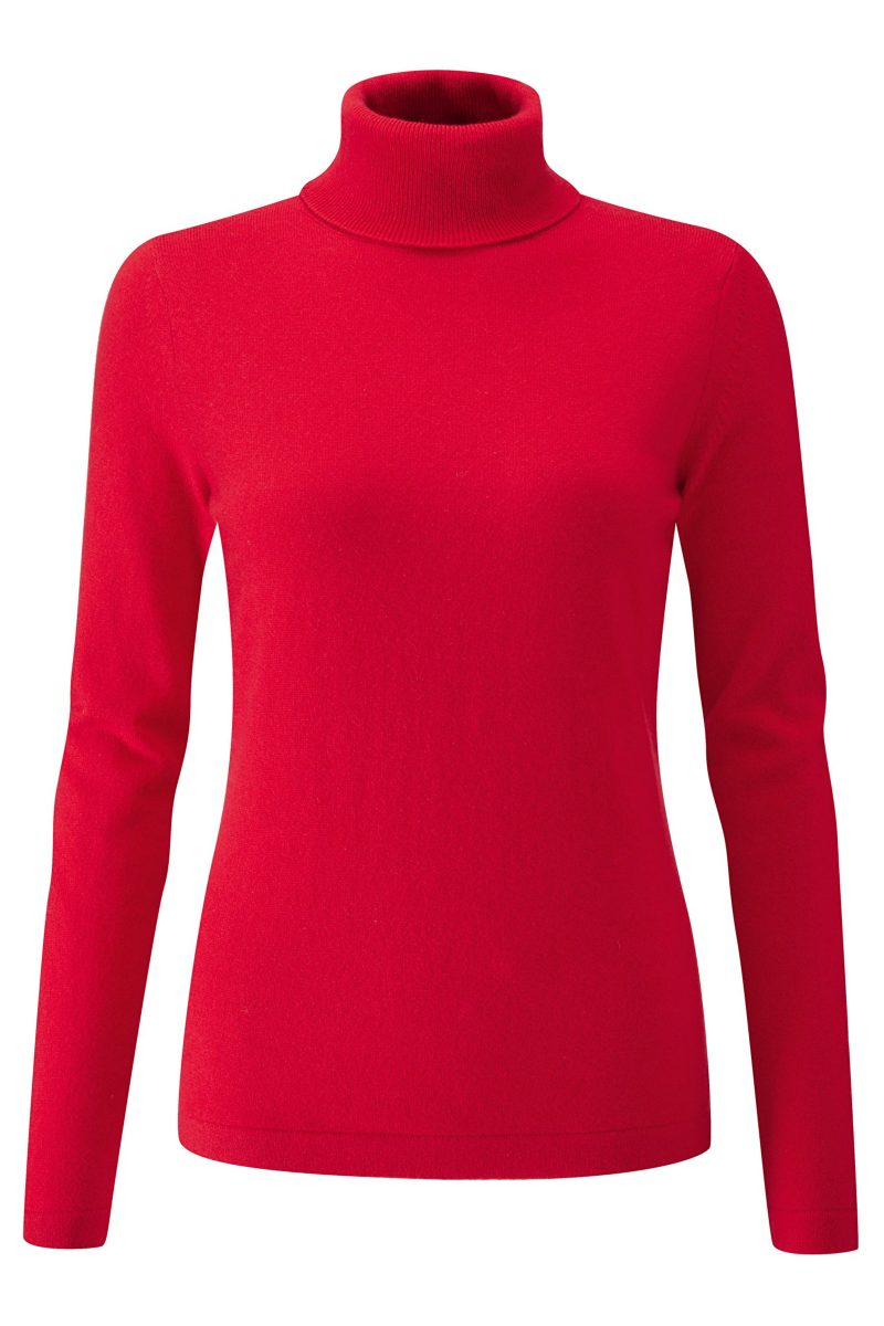 Click to Buy Pure Collection Red Cashmere Sweater