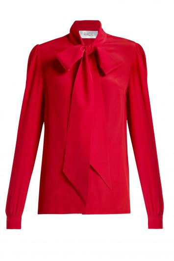 Click to Buy Doris pussy-bow crepe blouse