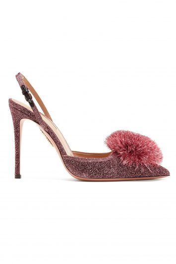 Click to Buy Aquazzura-Powder-Puff-Pompom-Heels