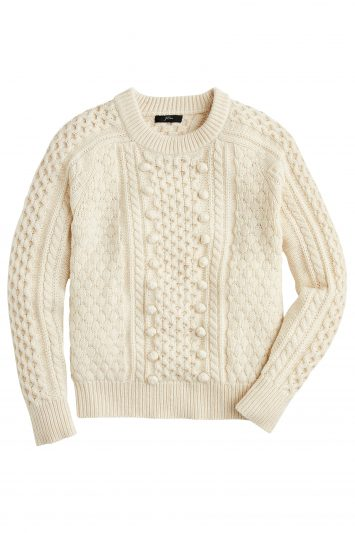Click to Buy J. Crew Cable Sweater