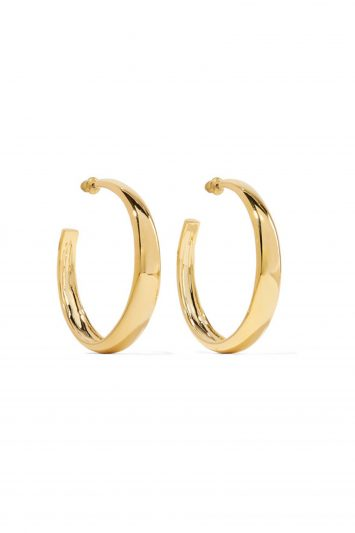 Click to Buy Kenneth Jay Lane Gold Hoop Earrings