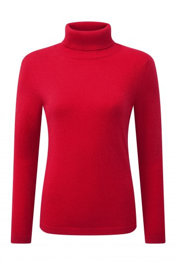 Pure Collection Cashmere Roll Neck Sweater