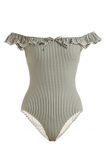 Click to Buy Solid-and-Striped-Swimsuit