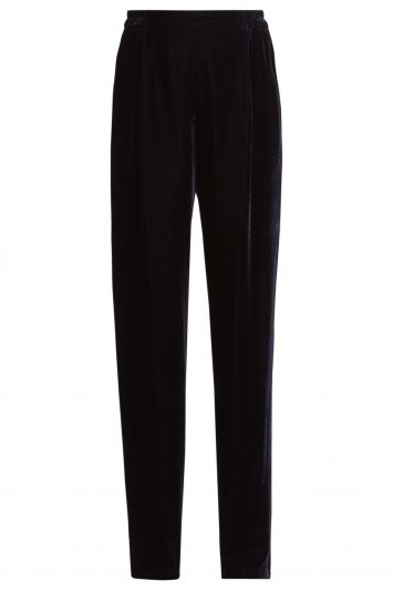 Click to Buy Stella McCartney Velvet wide-leg trousers