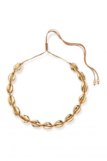 Click to Buy Tohum Large Puka Gold-plated Necklace