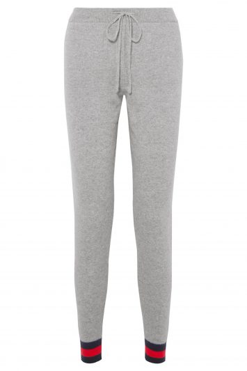 Click to Buy Chinti and Parker Striped cashmere track pants