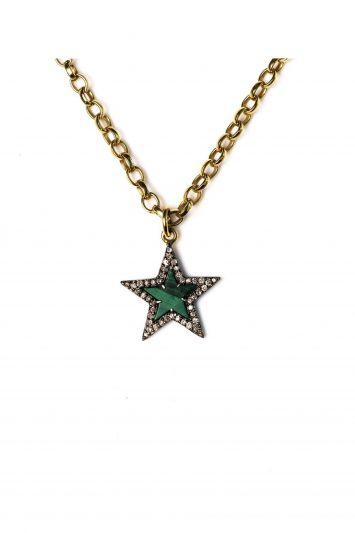 Click to Buy Kirstie Le Marque Diamond & Malachite Chunky Star Necklace