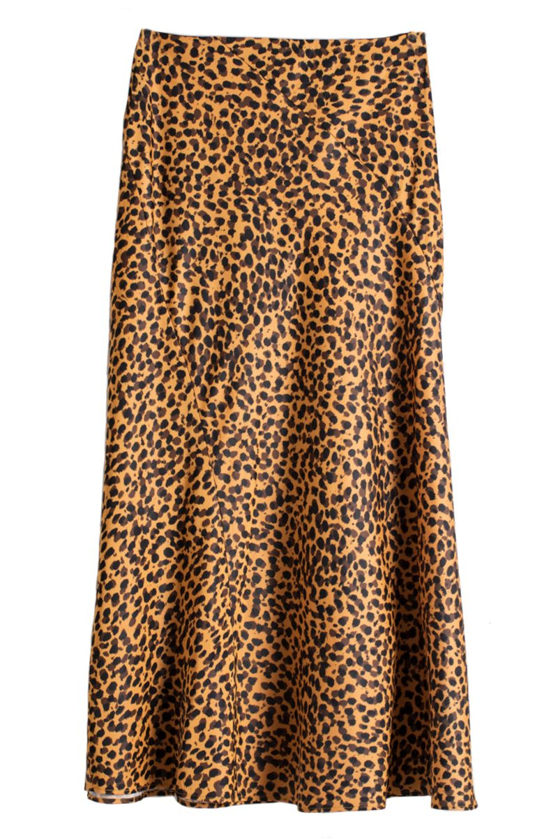 Click to Buy & Other Stories Leopard Print Midi Skirt