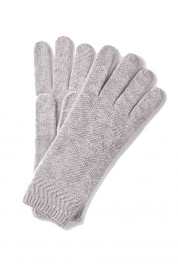 Click to Buy Pure Collection Long Knitted Leather Gloves