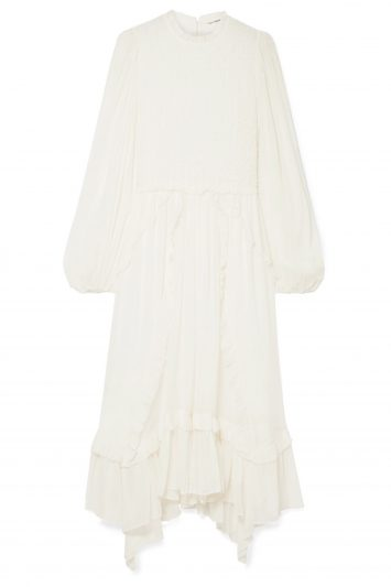 Click to Buy Ulla Johnson Arielle ruffled and crinkled silk-crepon dress