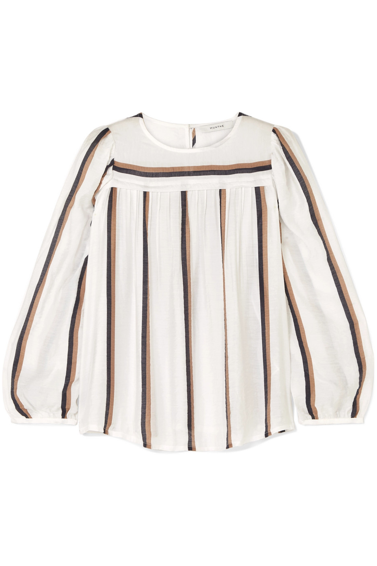 MUNTHE-Dustry-Striped-Voile-Top