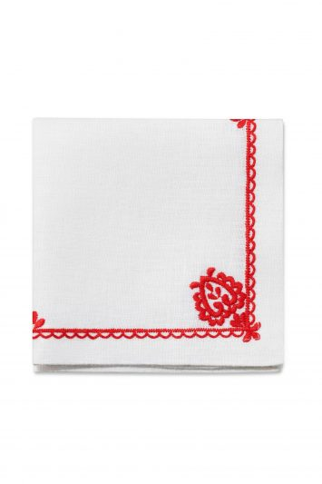 Aerin Floretta Embroidered Cocktail Napkins