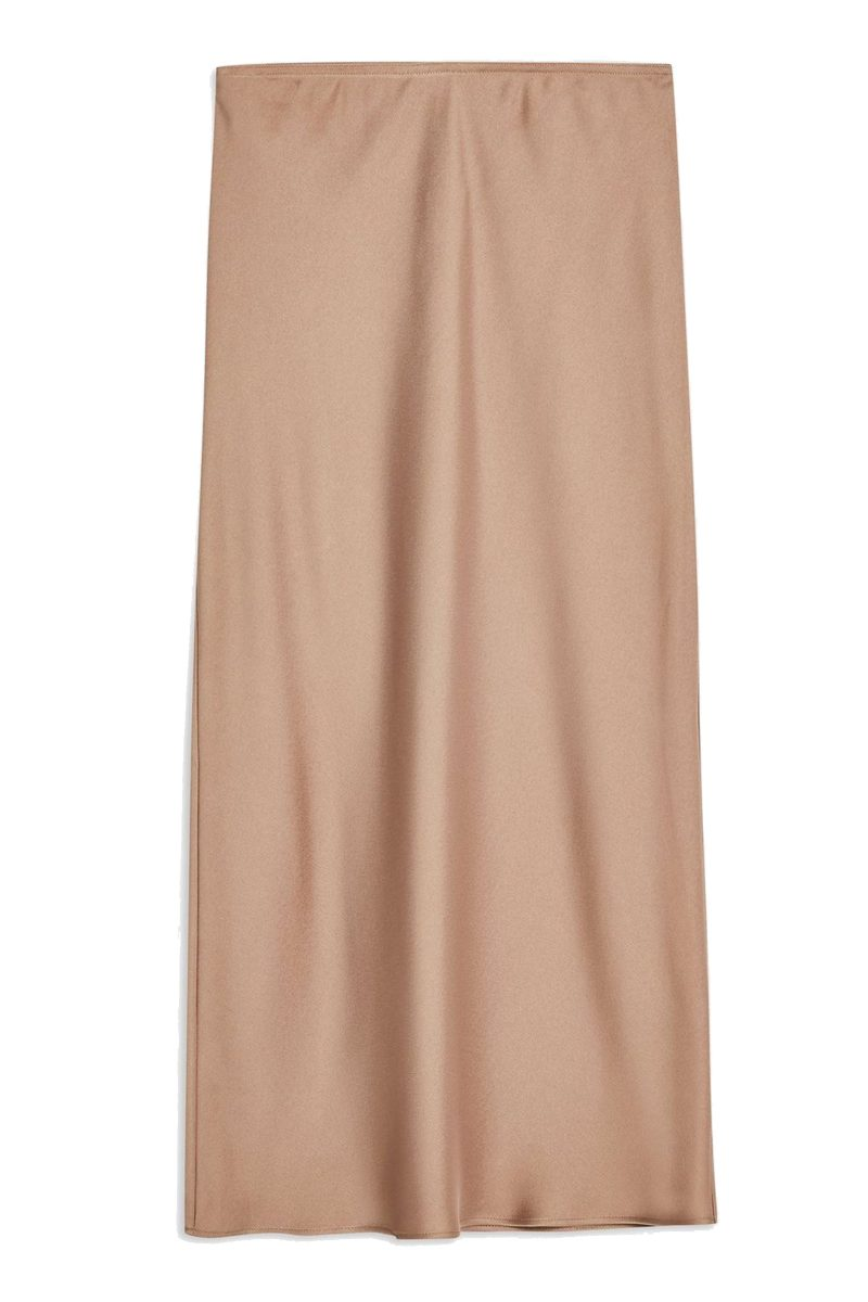 Click to Buy Topshop Satin Bias Midi Skirt