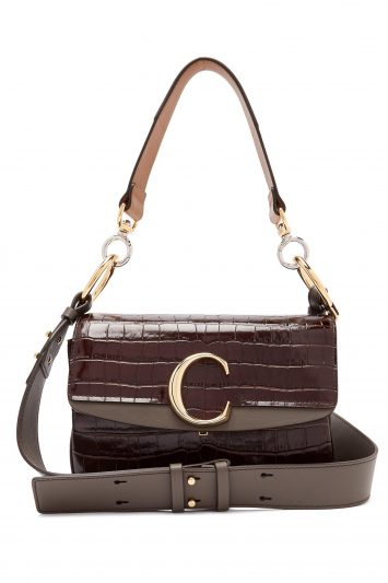 Chloe-crocodile-effect-shoulder-bag