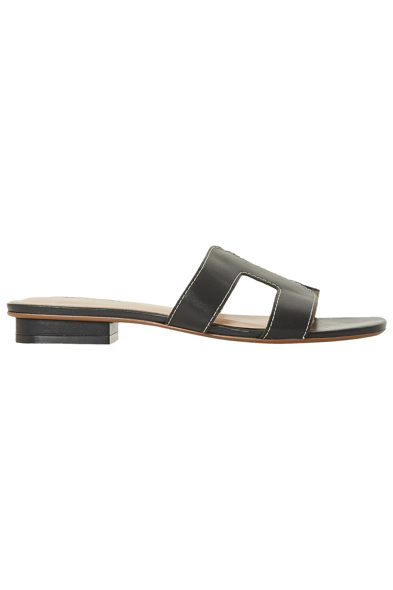 Dune-Loupe-Black-Leather-Sandals