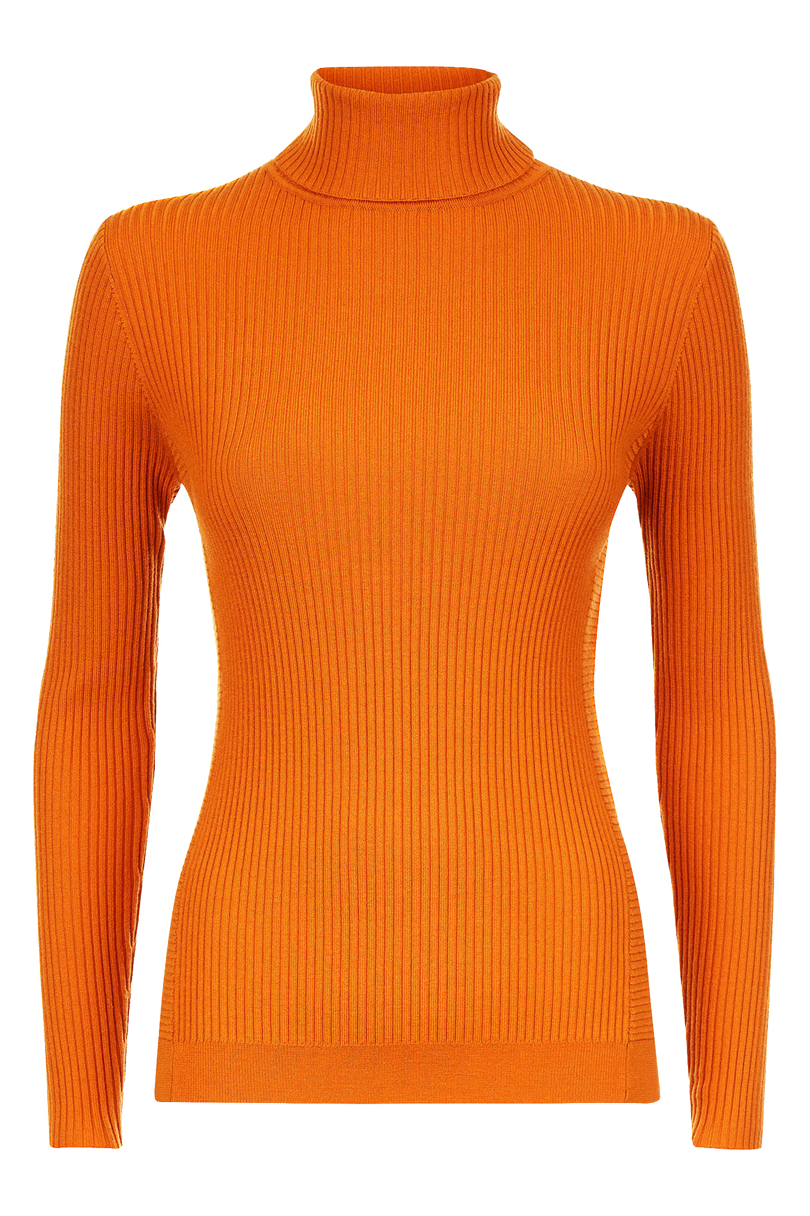 Buy Jaeger Rib Roll Neck Jumper In Orange Online