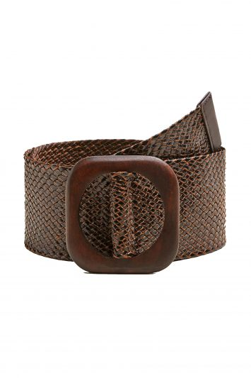 Click to Buy Mango Braided Wood Belt