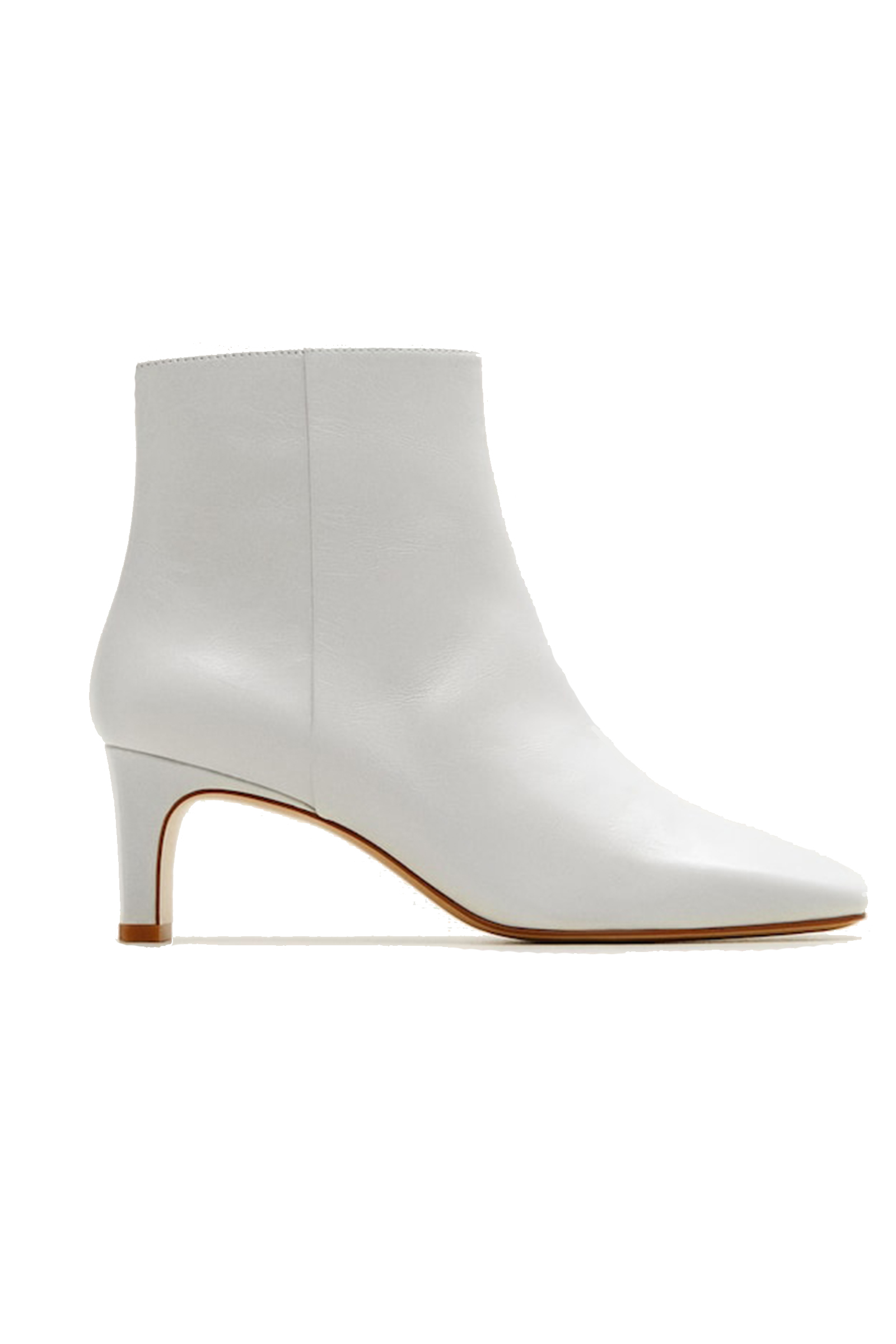 Buy Mango Heel Leather Ankle Boots In
