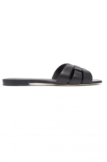 Click to Buy Saint Laurent Leather Slides