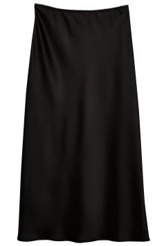Click to Buy Topshop-Black-Satin-Skirt