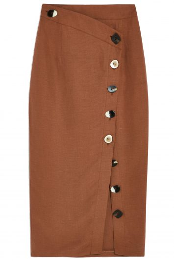 Click to Buy TOPSHOP-BUTTON-SKIRT