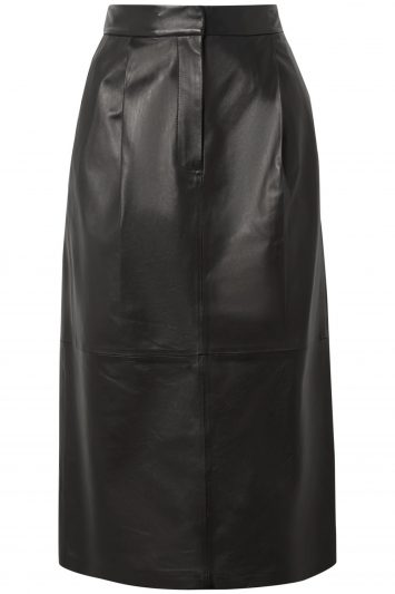 Click to Buy Tibi-Leather-Midi-Skirt