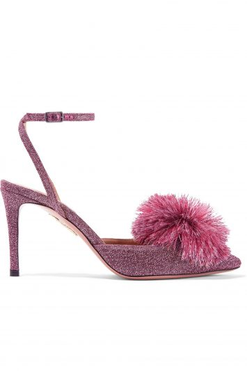 Click to Buy Aquazzura Powder Puff Slingbacks
