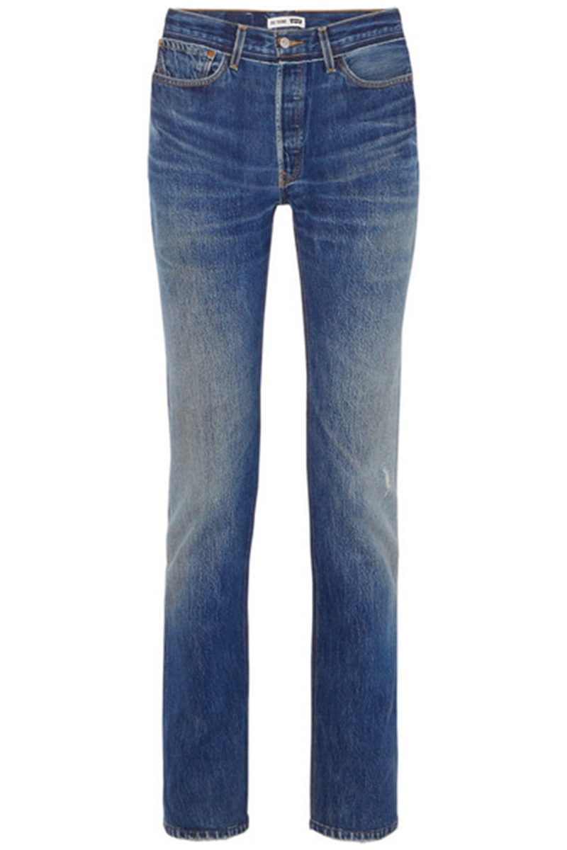 Click to Buy ReDone-Straight-Leg-Jeans