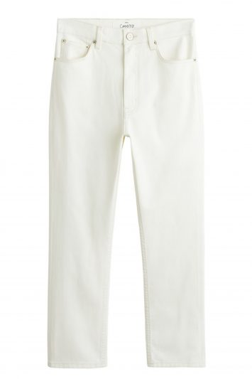 Click to Buy Mango Slim White Jeans