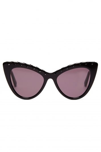 Click to Buy Falabella Chain Cat-eye Acetate Sunglasses