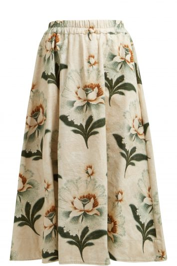 By-Walid-Daisy-Floral-Print-Skirt