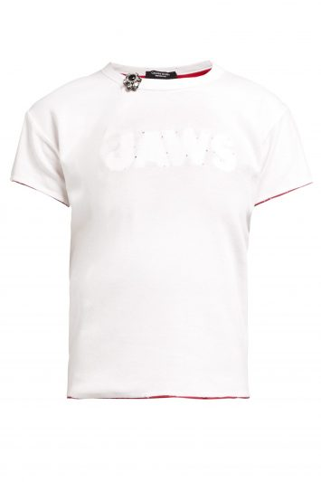 Distressed-Jaws-stitched-cotton-T-shirt