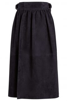 Joseph-Betty-Suede-Navy-Skirt