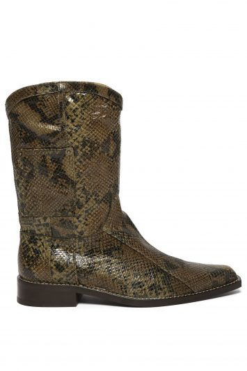 Martine-Rose-Python-Effect-Leather-Western-Boots