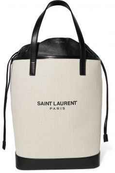 Saint-Laurent-Teddy-Canvas-Bag