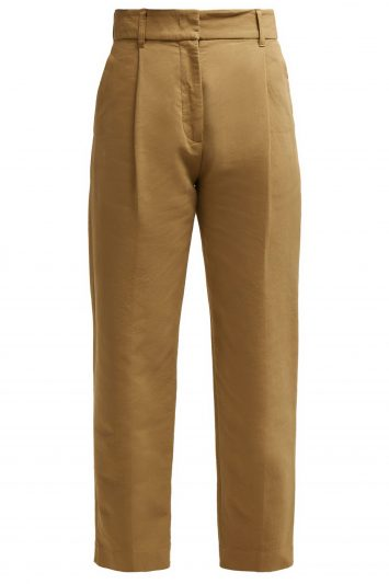 See-by-Chloé-Straight-Leg-Cotton-Trousers