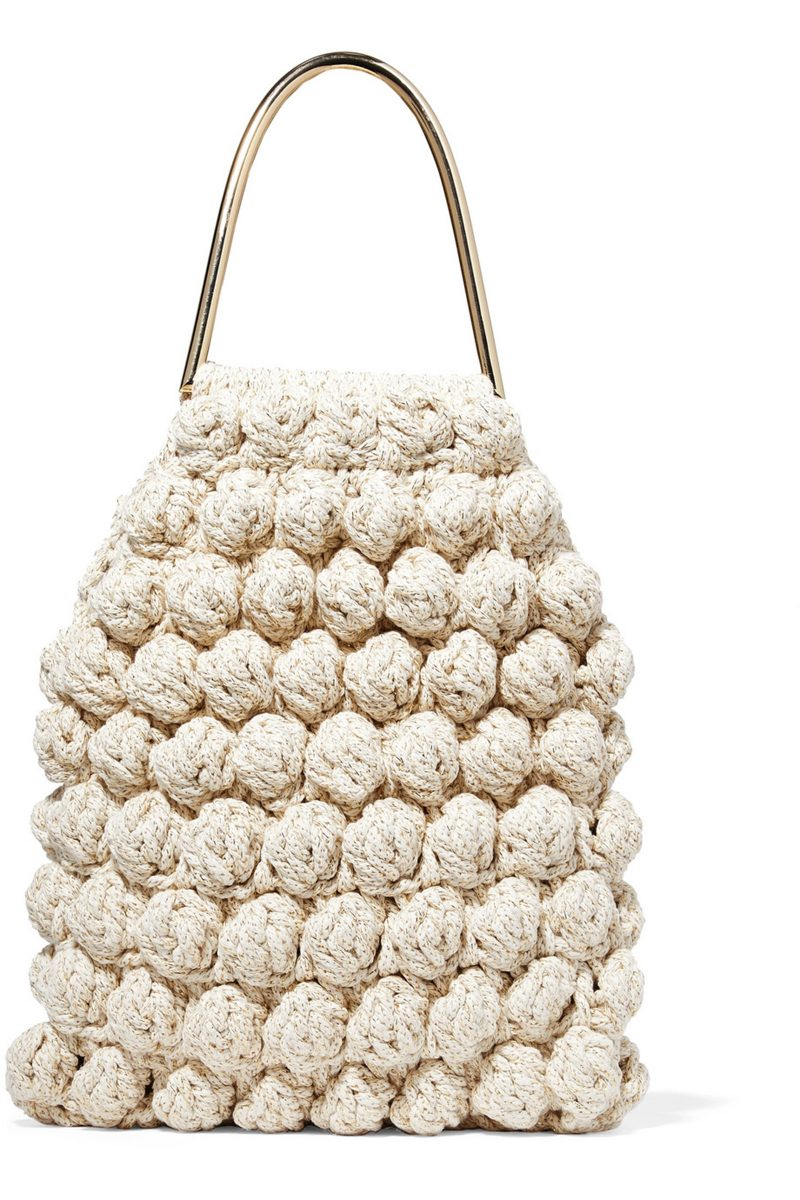 Ulla-Johnson-crocheted-and-Lurex-blend-tote