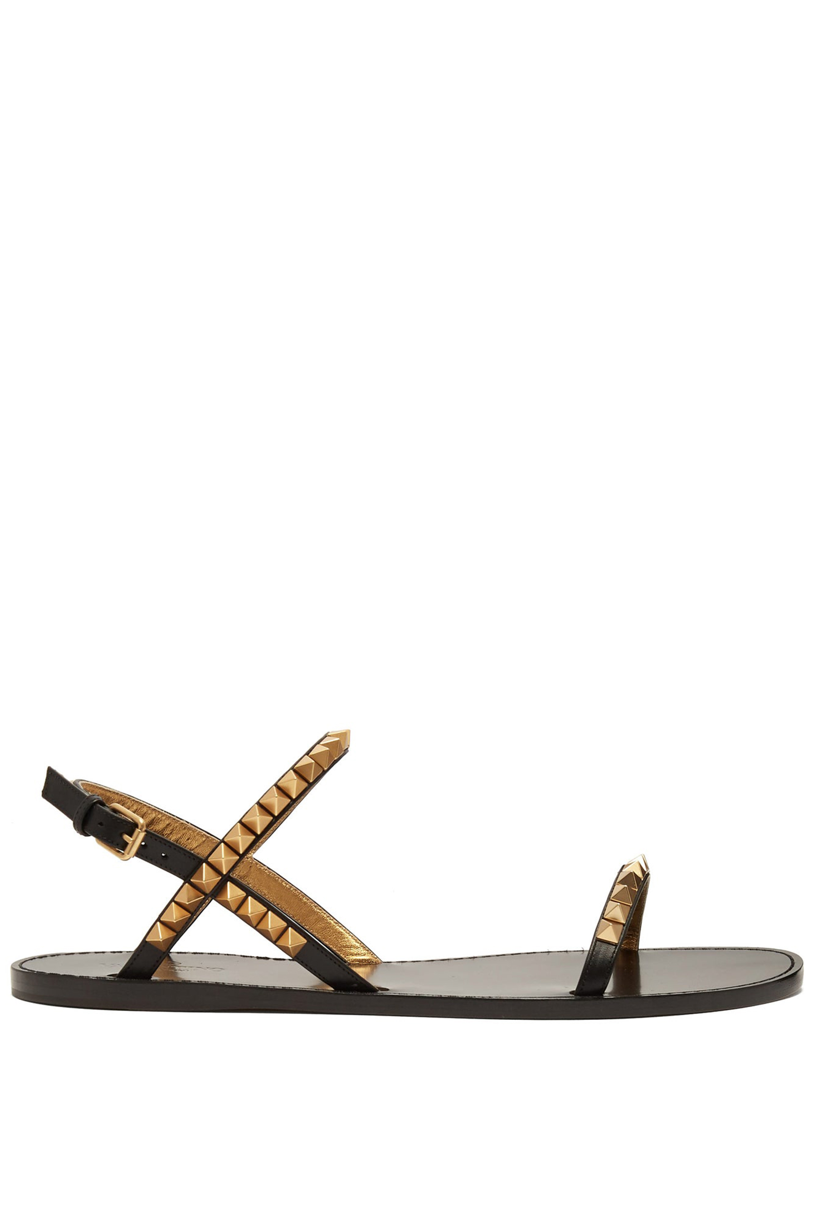 Valentino-Rockstud-Leather-Sandals