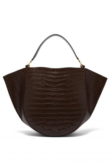 Wandler-Crocodile-Effect-Leather-Bag