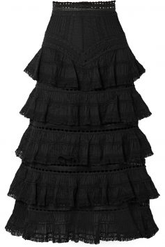 Zimmermann-Black-Tiered-Skirt