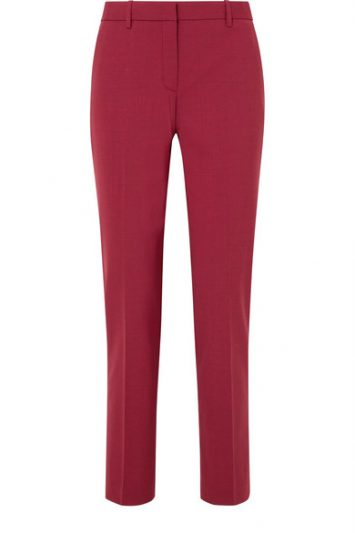 Theory red trousers